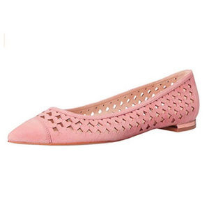 NWT Nine West Ashling Leather Heart Cut-out Flats